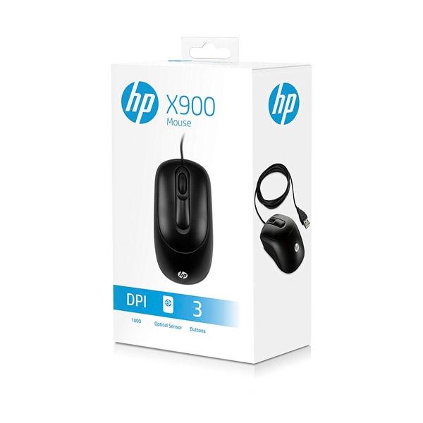 HP X900 óptico con cable  Ratón