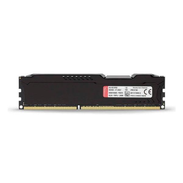 HyperX Fury Black DDR3 1600Mhz 4GB  Memoria RAM