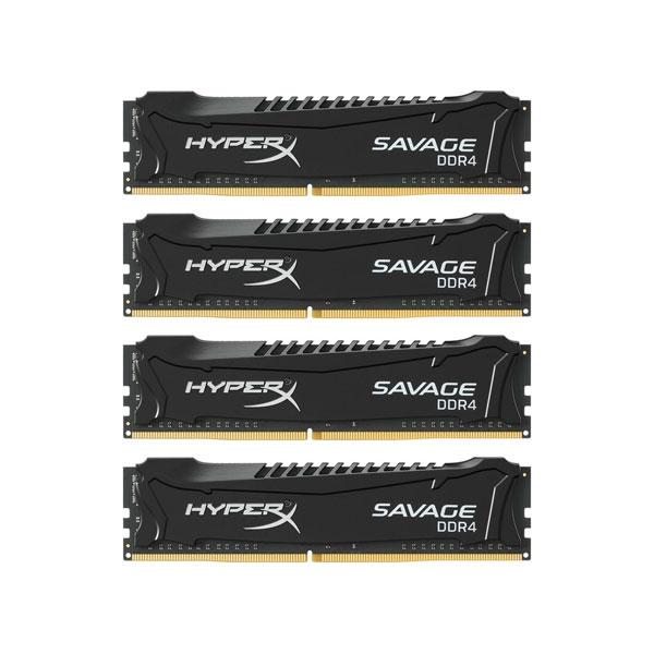 HyperX Savage DDR4 2400MHz 16GB 4x4 XMP  Memoria RAM