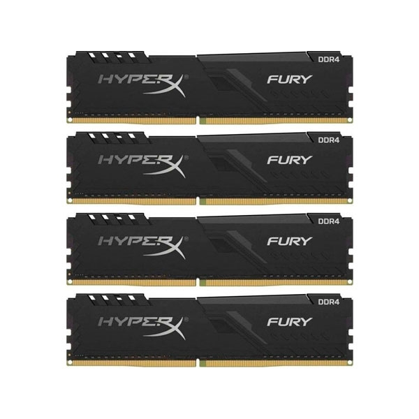 HyperX Fury Black DDR4 2666MHz 32GB 4x8 CL16  Memoria RAM