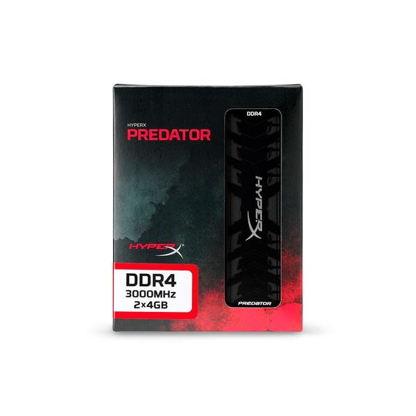 HyperX Predator DDR4 3000MHz 8GB (2x4) XMP - Memoria RAM