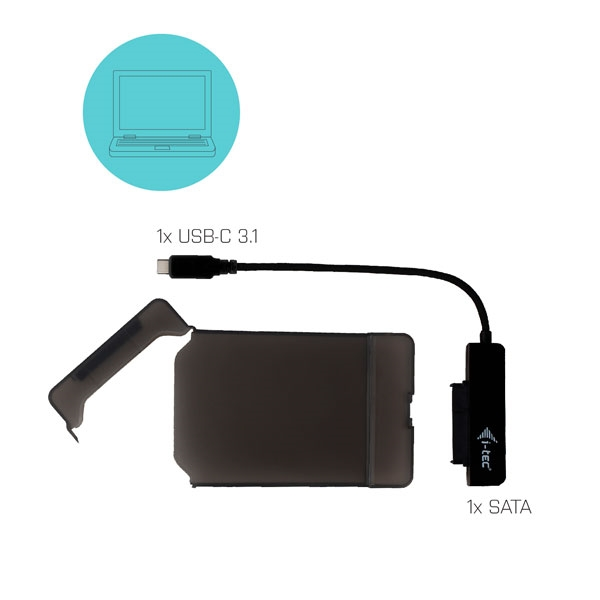 """I-Tec MySafe USB-C 3.1 Gen. 2 Easy 2.5"""" - Caja HDD"""