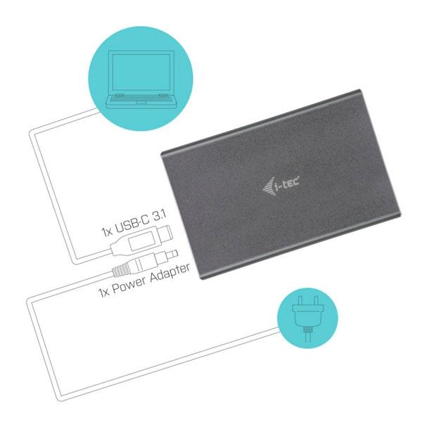 """I-Tec Mysafe USB-C 2.5"""" SATA 9.5mm - Caja HDD"""