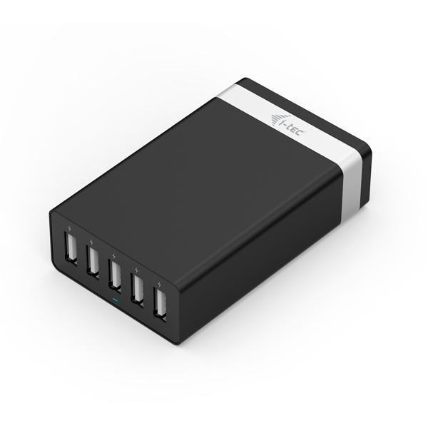 ITec USB Smart Charger 5 Puertos 40W8A  Cargador de Pared