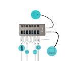 ITec USB 30 7 puertos 36 W  Hub USB