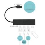 ITEC Slim Passive HUB 4 Ports USB 30  Adaptador