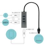 iTec USB 30 HUB 4 Puertos Metal  Adaptador