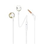 JBL Tune 205 OroBlanco  Auriculares con Micrófono