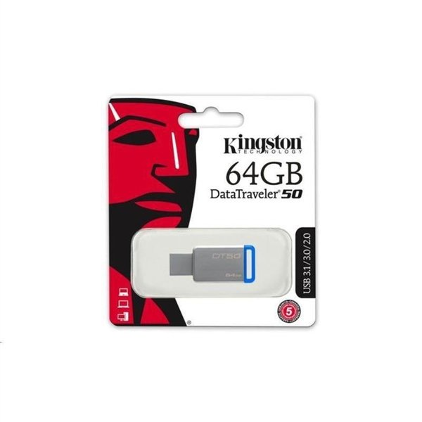 64GB USB 3.0 DataTraveler 50 Metal/Blue