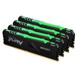 Kingston Fury Beast RGB DDR4 64GB 4x16GB 2666MHZ CL16  Memoria RAM