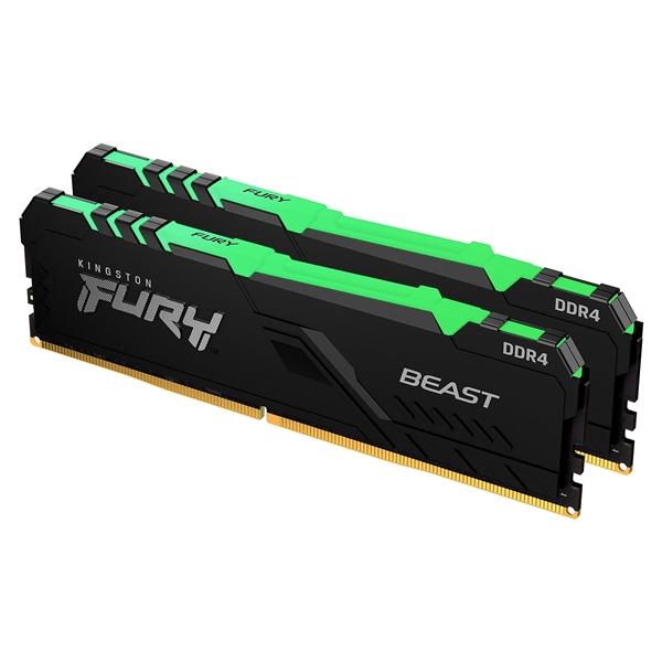 Kingston Fury Beast RGB DDR4 16GB (2 x 8GB) 2666MHZ CL16 - Memoria RAM