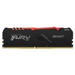 Kingston Fury Beast RGB DDR4 8GB 2666MHZ CL16  Memoria RAM