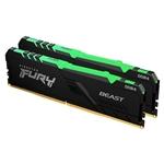 Kingston Fury Beast RGB DDR4 16GB 2x8GB 3200MHz CL16  Memoria RAM