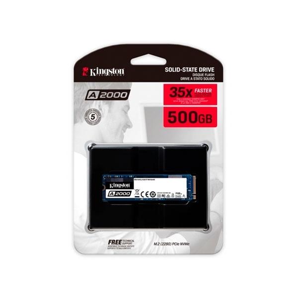 Kingston A2000 M2 2280 NVMe PCIe 500GB  Disco Duro SSD
