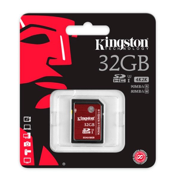 Kingston SDHC 32GB – Memoria Flash