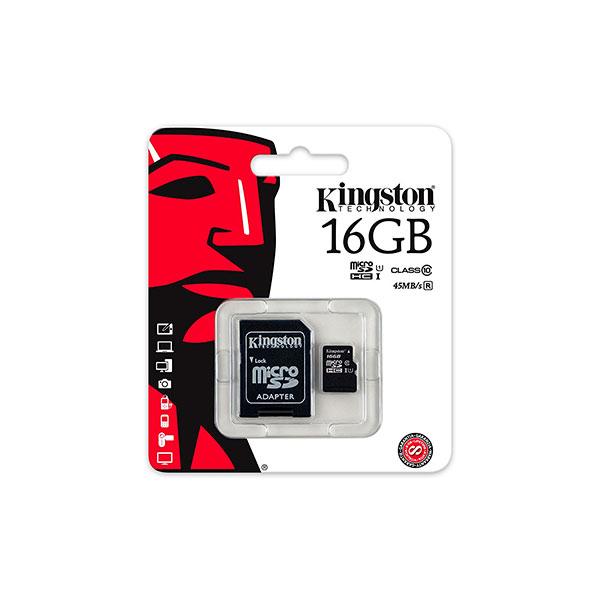 Kingston  tarjeta de memoria flash  16 GB  microSDHC