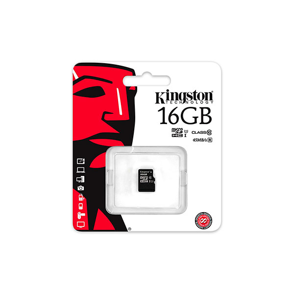Kingston microSDHC UHS 16 GB  Memoria Flash