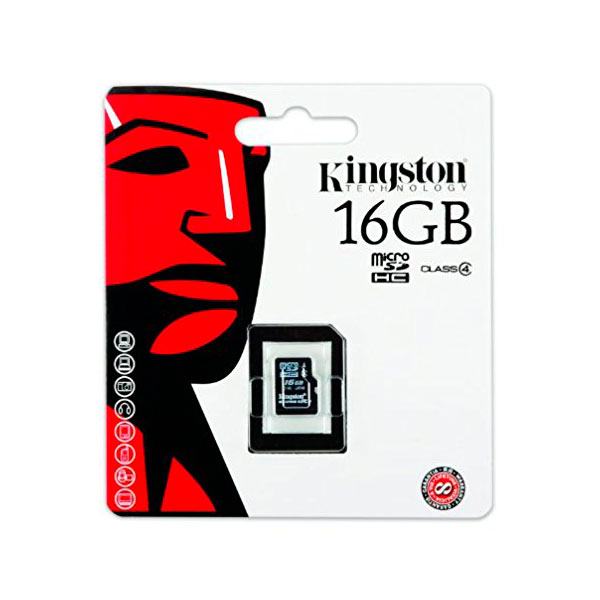 Kingston – tarjeta de memoria flash – 16GB – microSDHC