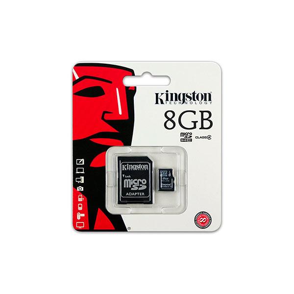 Kingston microSDHC 8GB  Memoria MicroSD