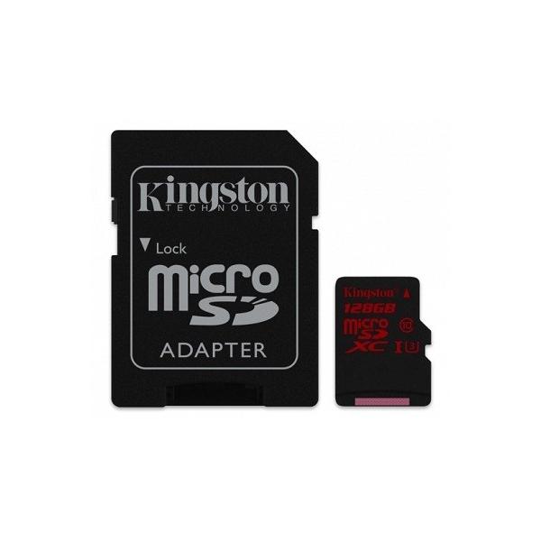Kingston MicroSDXC 128GB UHSI U3 80MBS  Memoria MicroSD