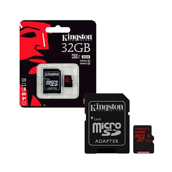 Kingston  tarjeta de memoria flash  32 GB  microSDHC UHS1