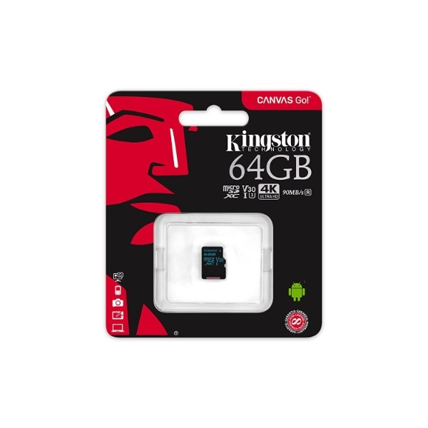 Kingston MicroSD Canvas Go! 64GB – Memoria Flash