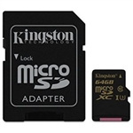 Kingston MicroSD Gold UHSI U3 64GB cad  Memoria Flash
