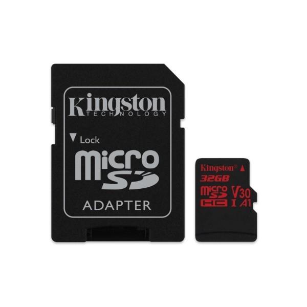 Kingston Canvas React MicroSD 32GB c/ad – Memoria Flash