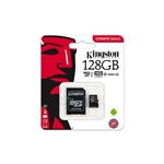 Kingston Canvas Select MicroSD 128GB c/ad - Memoria Flash