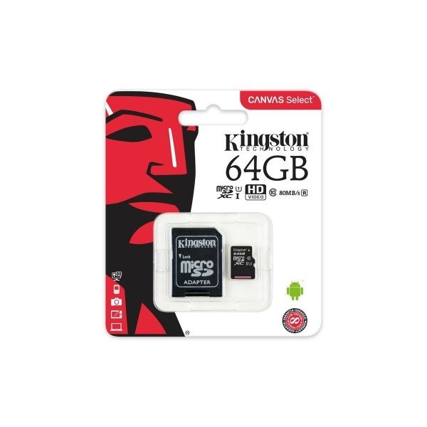 Kingston Canvas Select MicroSD 64GB cad  Memoria Flash