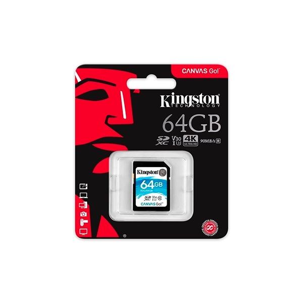 Kingston Canvas Go! SDXC 64GB – Memoria Flash
