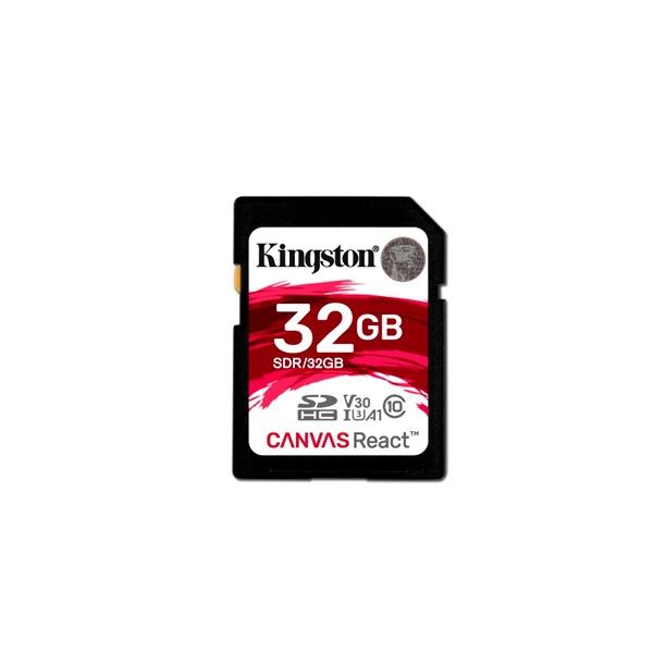 Kingston Canvas React SDHC 32GB  Memoria Flash