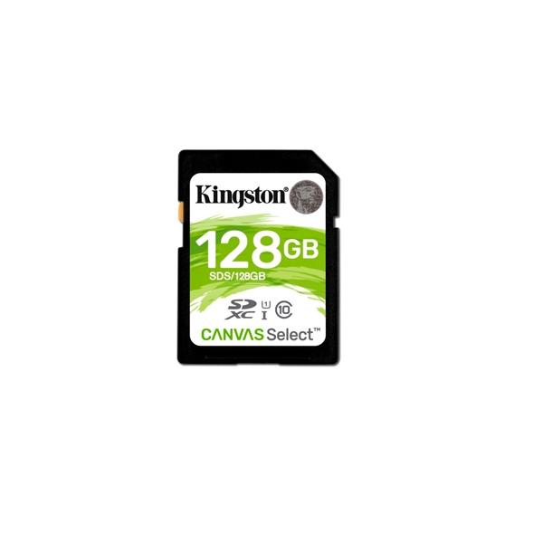 Kingston Canvas Select SDHC 128GB - Memoria Flash