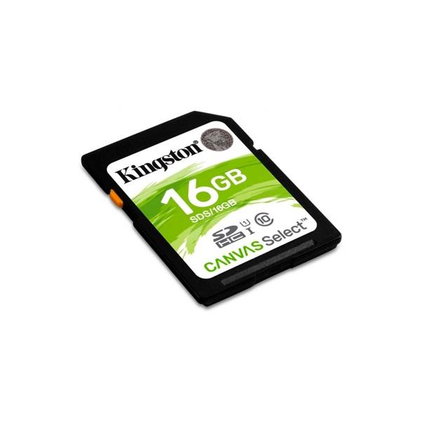 Kingston Canvas Select SDHC 16GB  Memoria Flash
