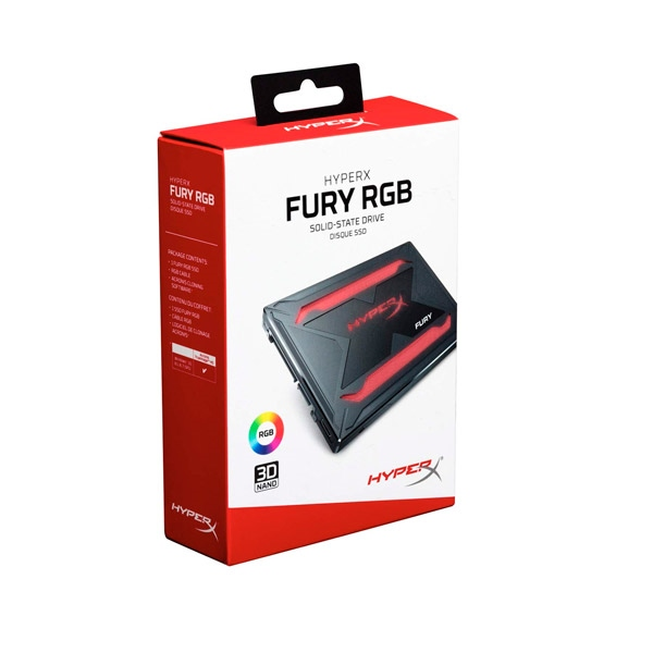 Kingston HyperX Fury RGB 240GB  Kit instalacin  SSD