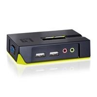 Level 1 KVM-0221 2 Puertos USB + audio – KVM