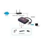 Level One USB a RJ45 101001000  HUB USB 30  Adaptador