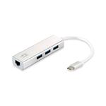 Level One USBC Gigabit Ethernet RJ45 HUB  Adaptador