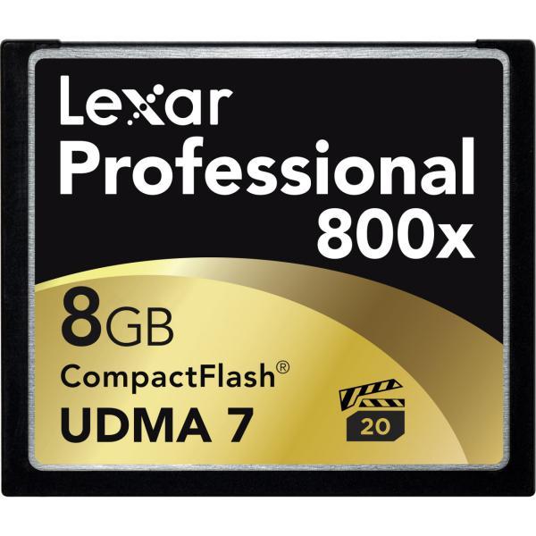 Lexar Professional 800x 8GB 120MBs  Tarjeta Compact Flash