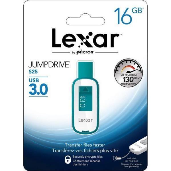 Lexar JumpDrive S25 16GB USB 30 130MBs verde  Pendrive