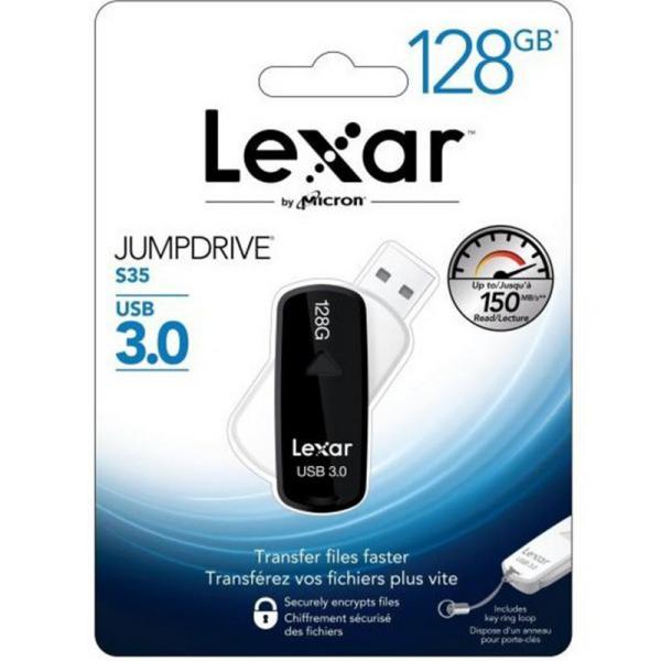Lexar JumpDrive S35 128GB USB 30 130MBs   Pendrive