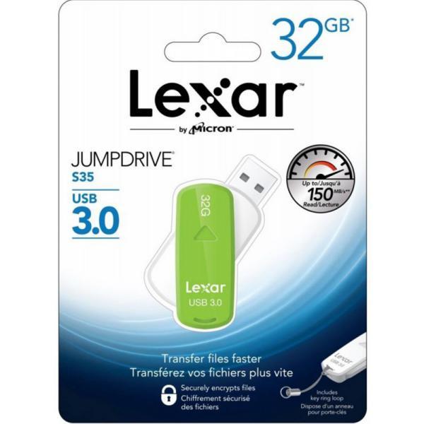 Lexar JumpDrive S35 32GB USB 3.0 130MB/s  – Pendrive