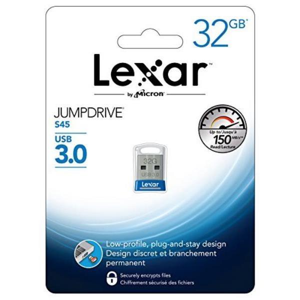 Lexar JumpDrive S45 32GB USB 3.0 130MB/s azul – Pendrive