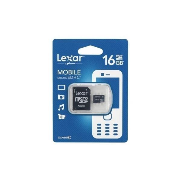 Lexar 16GB con Adaptador SD  Tarjeta MicroSD