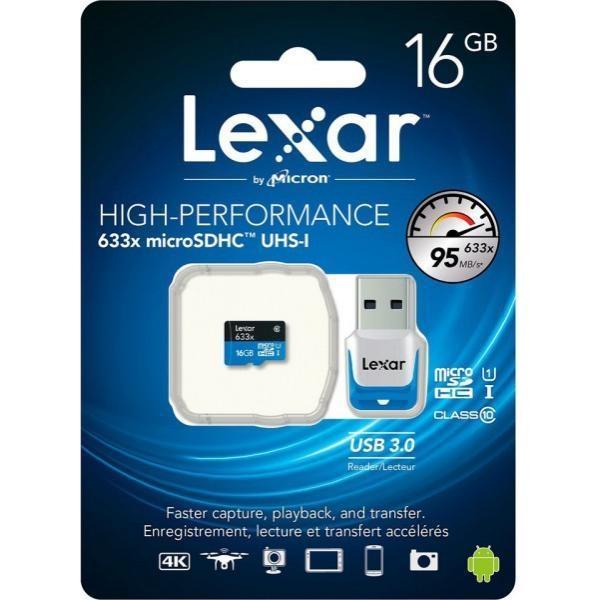 Lexar High Performance 633x 16GB 95MB/s – Tarjeta MicroSD