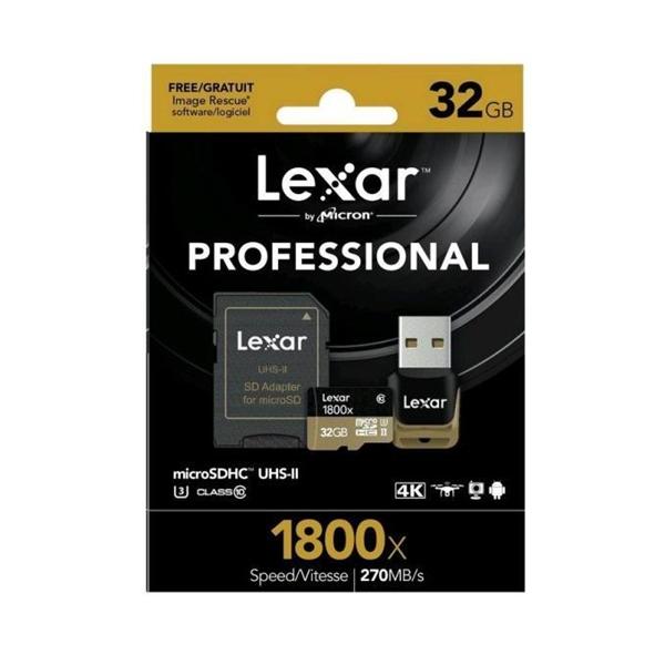 Lexar Professional 1800x 32GB 270MBs  Tarjeta MicroSD