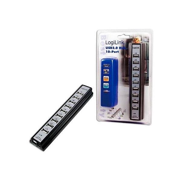 LogiLink Hub USB 20 10 puertos  Adaptador USB