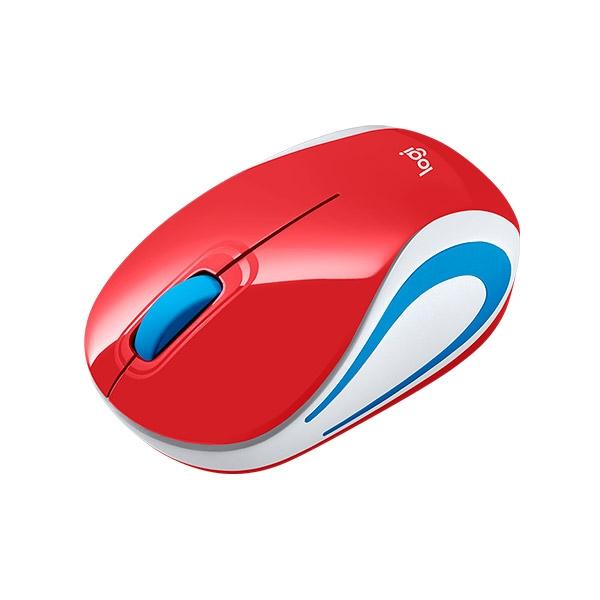 Logitech M187 rojo Wireless - Ratón