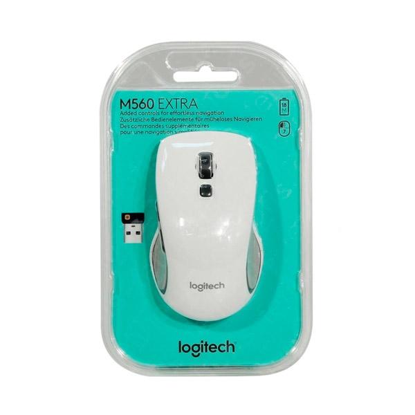 Logitech M560 blanco Wireless - Ratón