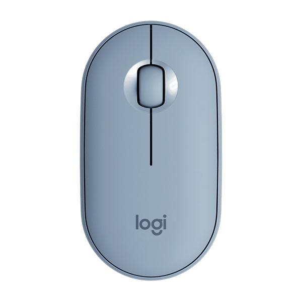 Logitech Pebble M350 Óptico Bluetooth Gris Azulado  Ratón